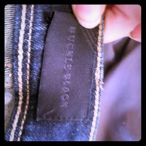 Buckle black womens jeans